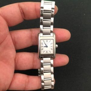 Used Coach watch in silver tone